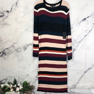 NWT Eloquii Striped ribbed Sweater Dress Sz 18/20